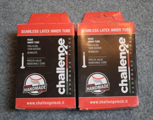 Challenge Latex Seamless inner tube 700 x 19-28c Pair - Two Tubes