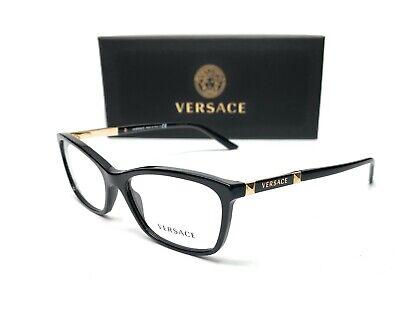 Versace VE3186 GB1 Black Demo Lens Women Eyeglasses Frame 52-16