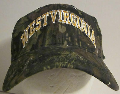 West Virginia  Camouflage  Baseball Cap H   L  Adjustable Back  1 Size Fits All