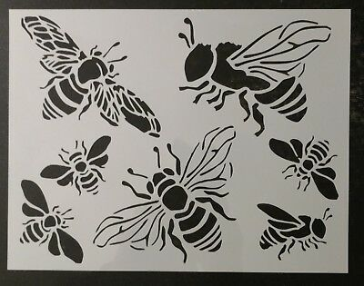 """Honey Bee Bumble Bees 11"""" x 8.5"""" Custom Stencil FAST FREE SHIPPING"""