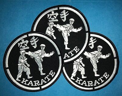 3 Lot Rare 1980/'s The World Martial Arts Federation Uniform Jacket Patches 683