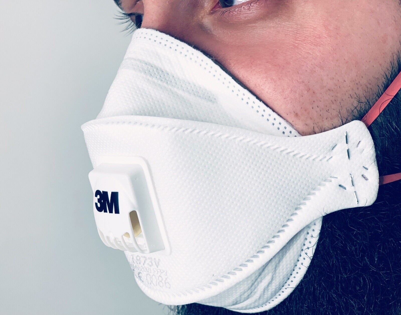 1St. 3M Atemschutzmaske FFP3 Feinstaubmaske 1873V Mundschutz Staubmaske Ventil
