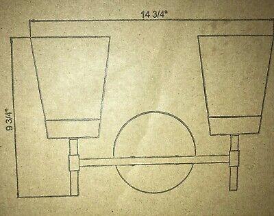 Kenroy Home Delgato 2-Light Antique Brass Bathroom Vanity Light 93982AB