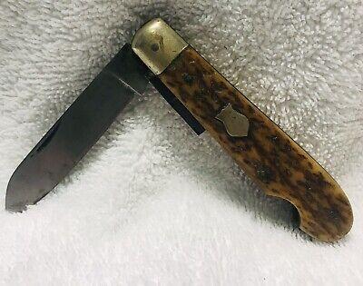 Vintage Olsen Knife Company Solingen Germany Folding Pocket Knife Peanut