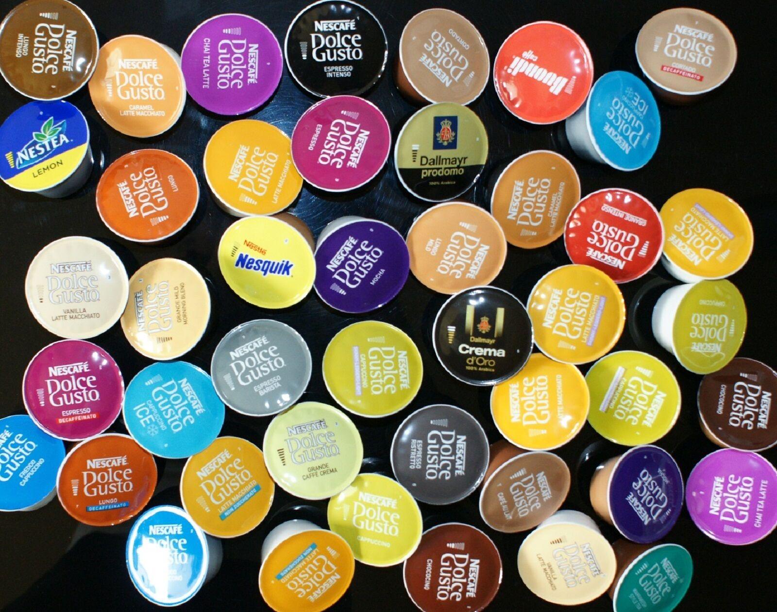 Nescafé Dolce Gusto Probierpaket Probierset 58  Kapseln 45 Getränke Kaffee