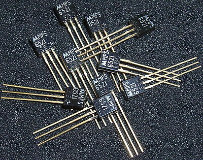 Qty 10 Vintage Motorola Mps6521 High Gain Transistor Gold Leads Nos Xlnt Fuzz