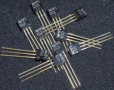 Qty 10 Vintage Motorola Mps6521 High Gain Transistor Gold Leads Nos Xlnt Fuzz