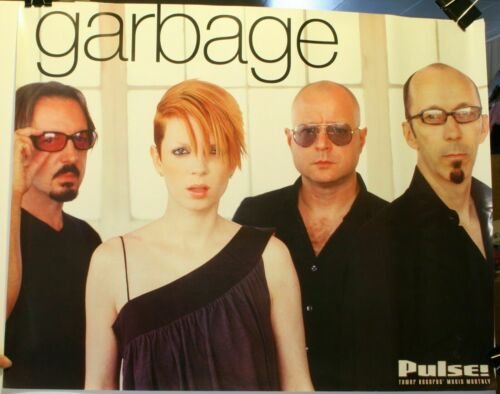 "GARBAGE ""PULSE 2001"" TOWER RECORDS PROMO POSTER - Shirley & Group By Windows"