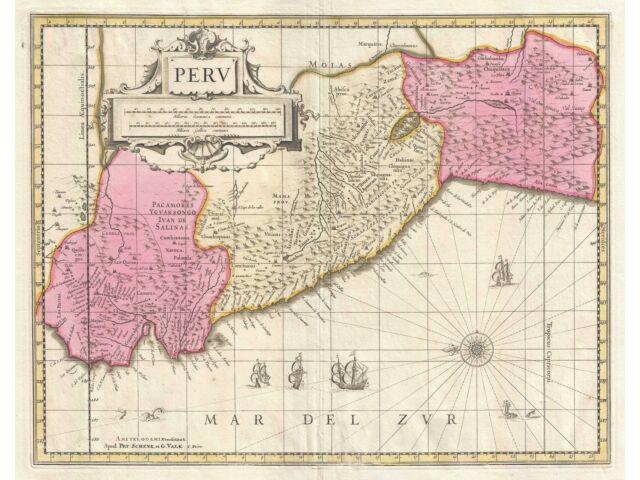 1700 Schenk and Valk Map of Peru