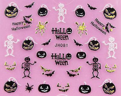 Halloween or Crâne Citrouille Vampire Chat Fantôme Tombe Croix 3D](Citrouille Halloween)