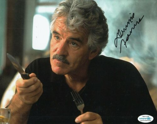 DENNIS FARINA signed (GET SHORTY) Movie 8X10 *Ray Bones Barboni* photo ACOA #1
