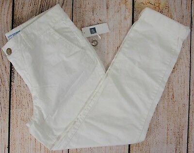 NWT Womens GAP The Skinny Boyfriend Khaki Pants Optic White - 13579 - Boyfriend Khaki Pants