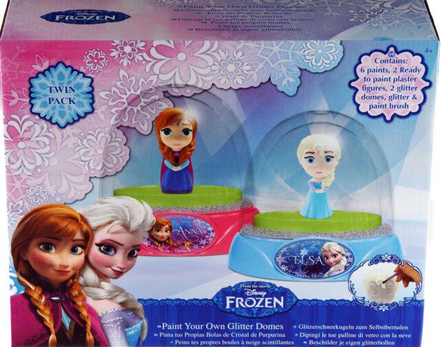 Disney Frozen Paint Your Own Snow Globe / Glitter Dome - Elsa / Anna