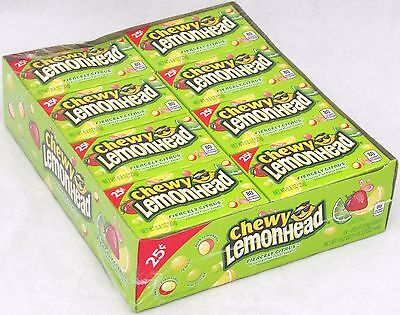 Chewy Lemonhead Fiercely Citrus Fruit Candy 24 Ct Lemon Head Bulk Lemonheads