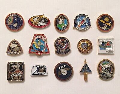 LOT of 15 NASA LAPEL PINS Space Shuttle STS Missions Skylab Delta II Astro I +++ Space Shuttle Mission Pin