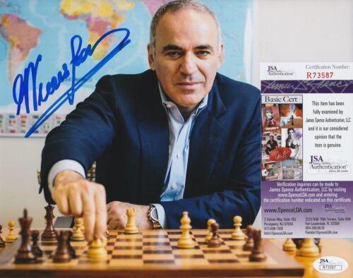 Garry Kasparov In-Person Signed 8x10 Photo w/ JSA COA #R73587