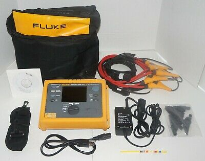 Fluke 1735 3 Three Phase Power Quality Logger Analyzer Used