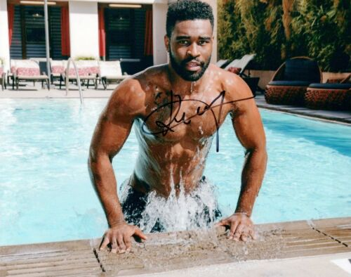 Keo Motsepe Signed 8x10 Photo DANCING WITH THE STARS Hot Sexy Shirtless Pose COA