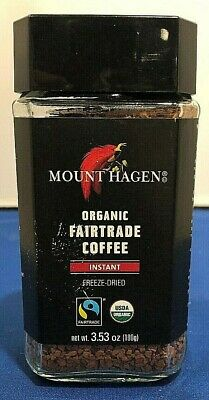 (1) Mount Hagen Organic Fairtrade Coffee Germany Freeze Dried Instant 3.53 Oz Dry Organic Coffee