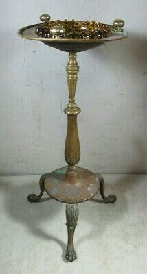 Vintage/Antique Heavy Brass Claw Foot Cigar Ashtray Stand