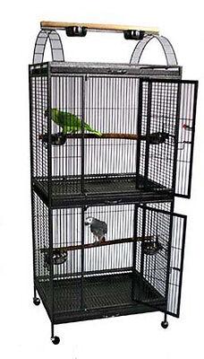 NEW Large Double Decker Wrought Iron Bird Flight Breeder Breeding Bird Cage 258