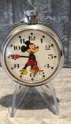 Mickey Mouse British Pocket Watch by Smiths Walt Disney Productions w/ orig box