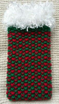 MOBILE PHONE COVER SOCK POUCH RED GREEN iPHONE/SAMSUNG ETC CHRISTMAS GIFT
