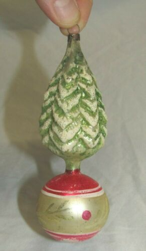 German Antique Glass Tree On A Ball Vintage Christmas Ornament Decoration 1900