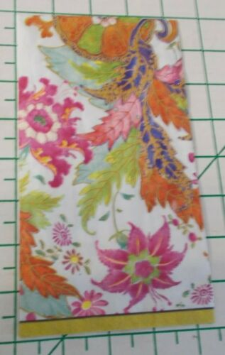 """Two Decorative Hostess Napkins for Decoupage """"Tobacco Leaf"""" in Ivory"""