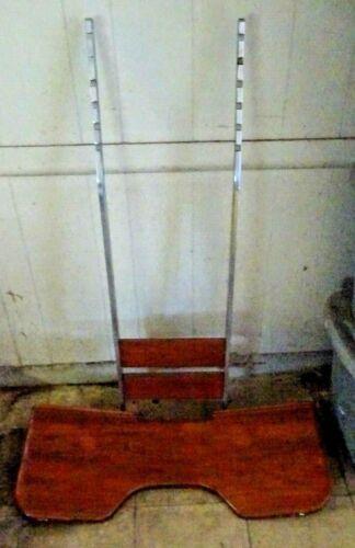 """Teak Fighting Chair FOOT REST 44""""L X 13 1/8""""W MT BRACKET LOOKS FAIRLY UNIVERSAL"""