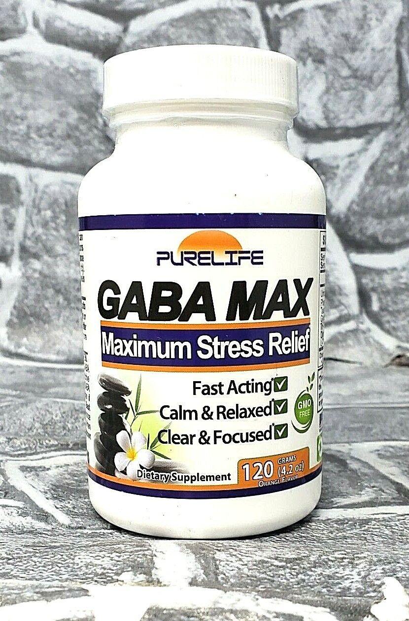 Purelife Gaba Max Maximum Stress Relief 120 Grams EXP 03/22 - NEW! SEALED!