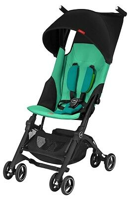 GB Pockit+ Plus Lightweight Ultra Compact Fold Baby Travel Stroller Laguna Blue