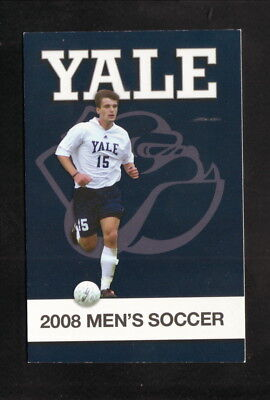 Yale Bulldogs  2008 Soccer Pocket Schedule  New Haven Register