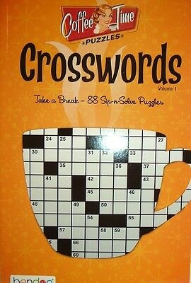 Crosswords   Coffee Time Puzzles By Bendon Books   Volume  1