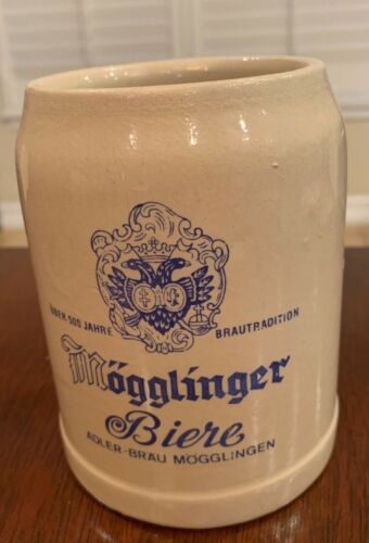 Vintage German Mögglinger .5 Liter CLAY STONEWARE BEER MUG STEIN West Germany