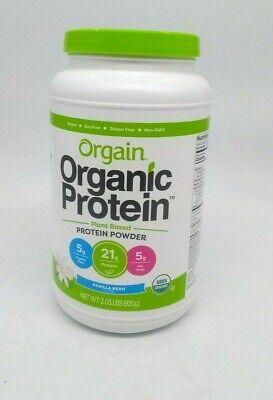 Orgain, Organic Plant Based Protein Powder, Vanilla Bean, 2.03LB