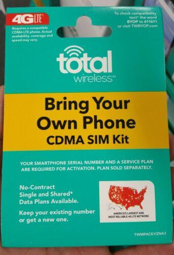 Total Wireless  Prepaid CDMA SIM Activation Kit