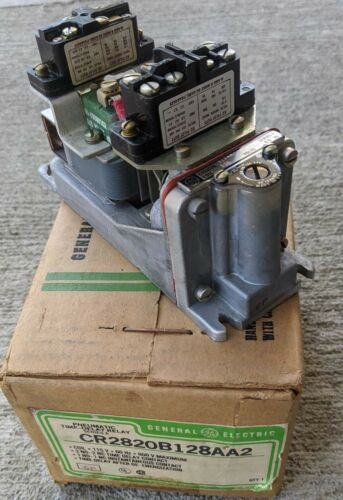New General Electric CR2820b128AA2 Pneumatic Time-Delay Relay Ser. A 115V