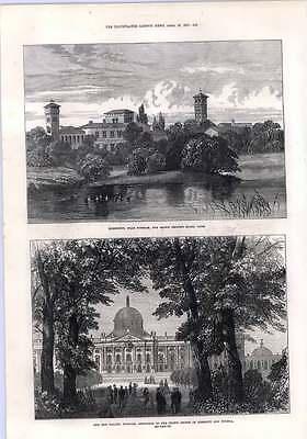 1872 The New Palace Potsdam Bornstedt Crown Prince Model Farm