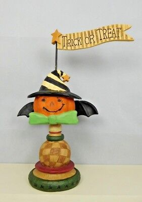 - Trick or Treat pumpkin with bat wings - New resin by Blossom Bucket #83605B