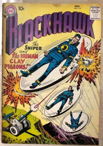 BLACKHAWK #118 (1957) DC Comics Frank Frazetta artwork VG+
