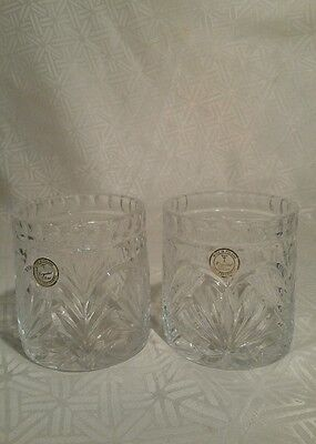 Vintage Crystal Clear Pair Of Candle Holders