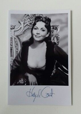 """HAMMER HORROR - Actress Hazel Court Reproduced Autograph 6""""X4"""" Glossy Pic"""