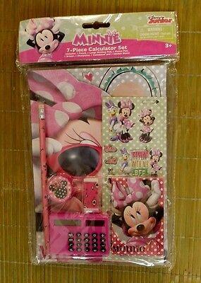 Disney kIds girls minnie mouse school pencil,calculator,sticker,eraser,notepad