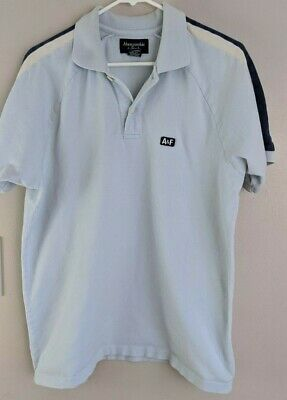 Abercrombie & Fitch Mens Light Blue VTG Polo Shirt size M