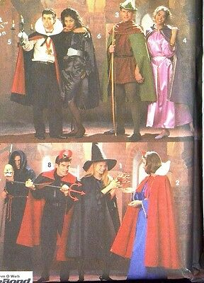 Simplicity Pattern For 8 His & Hers Halloween Costumes Uncut Easy/Quick - Quick Easy Adult Costumes