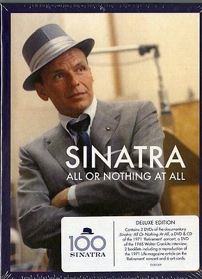 SINATRA FRANK ALL OR NOTHING AT ALL COFANETTO 4 DVD + CD...