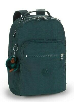 Kipling CLAS SEOUL Backpack with Laptop Compartment - Deep Emerald C