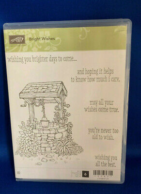 Stampin Up! BRIGHT WISHES, large artistic wishing well + 5 sentiments