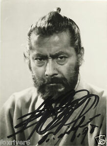 TOSHIRO-MIFUNE-Signed-Photograph-Film-Star-Actor